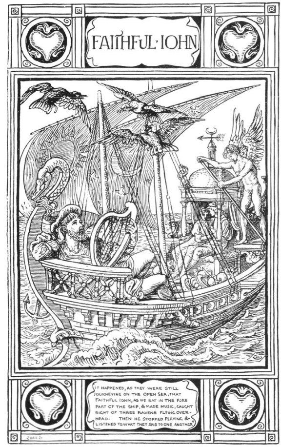 Faithful John Illustration by Walter Crane